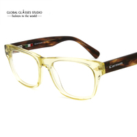 Handmade Acetate Rectangle Eyewear Frame With Polarized Removable Clip On Vintage Sunglass 608G