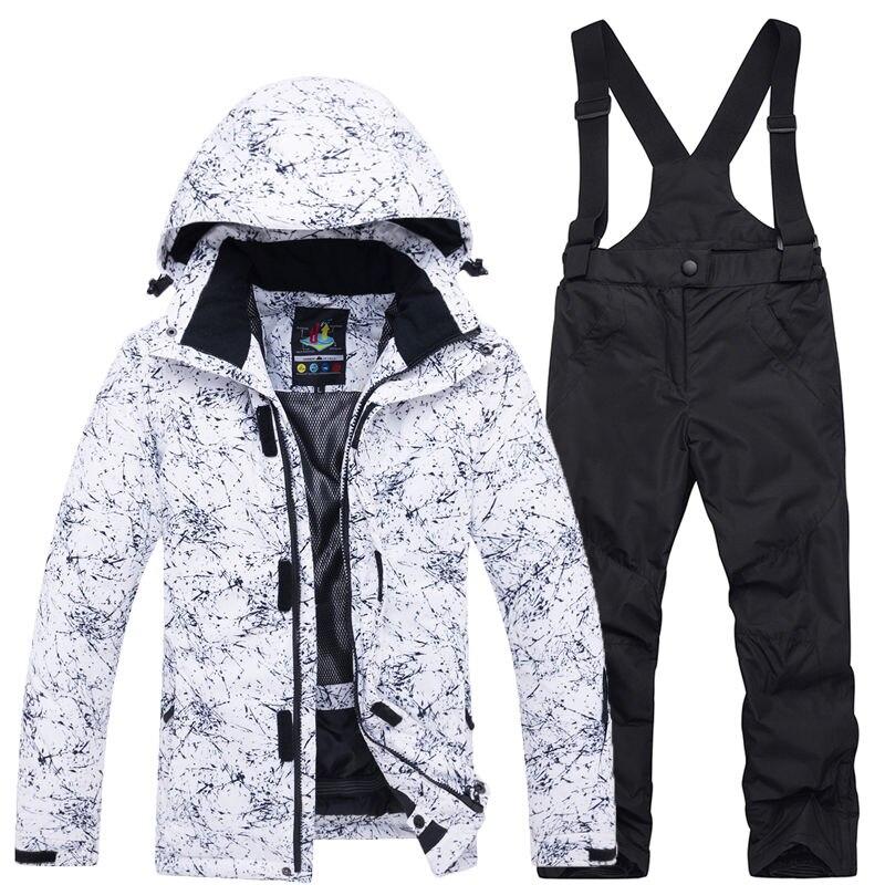 Thermique enfants Ski costume garçons filles Ski veste pantalon ensemble coupe-vent imperméable snowboard veste hiver enfants Ski costumes neige
