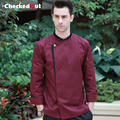 New arrival autumn and winter long sleeve washable long sleeve red chef uniform cook jacket