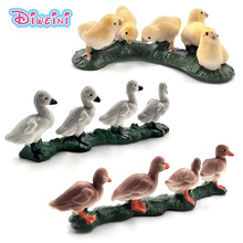 Simulation small Chicken Duck Goose animal model figure plastic home decor Decoration figurine Gift For Kids educational Pvc toy simulation chicken hen hatching eggs on nest farm animal model figure toy figurine home decoration large 11inch