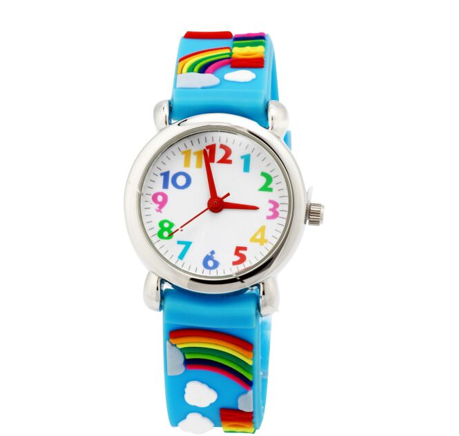 Original WiILLIS Brand Children Colorful Rubber Water Proof Watch For Student Rainbow Cute Jelly Watch With Japan Movement Watch