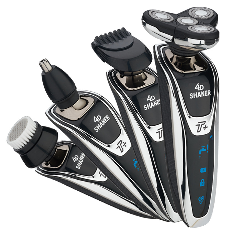 Electric Shaver nose trimmer Rechargeable 4 In 1 Washable Floating Blade razor electric razor electric shaver for men trimer original 3 in 1 washable rechargeable electric shaver triple blade