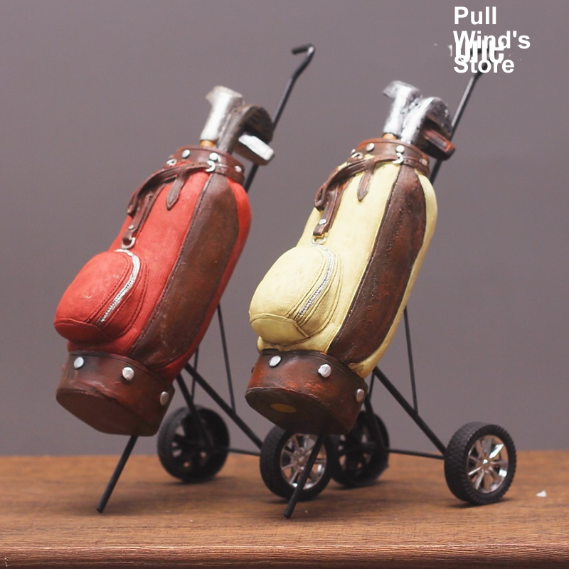 Retro rustic Golf resin ornaments Creative home office decor resin crafts Nice gift