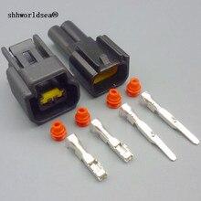Shhworld Sea 1 комплект FW-C-2F-B FW-C-2M-B 2 Pin катушка зажигания Жгут проводов женский и мужской водонепроницаемый авто разъем для Ford Focus