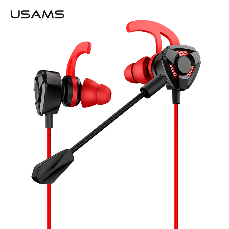 US $11 53 26% OFF|In ear Gaming Earphones,USAMS 3 5mm L Stereo Headset  Earbuds Wired Game inear Earphone 360 Rotation Plug Microphone for  Samsung-in