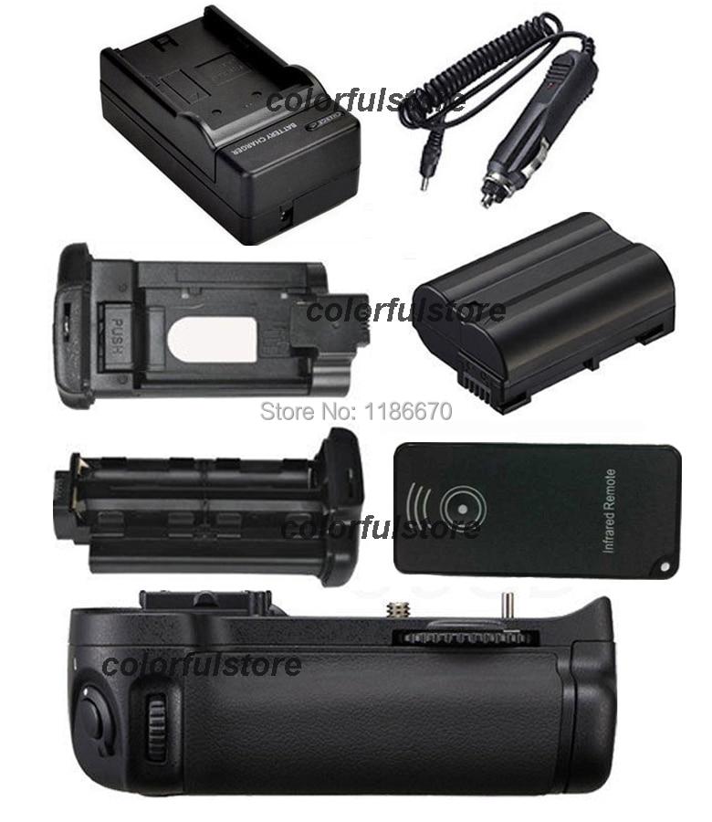 Battery Hand Handle Grip Holder Pack Vertical Shutter For Nikon D7100 D7200 Camera as MB-D15 MBD15+IR Remote+EN-EL15+Car Charger new arrival battery handle hand grip pack holder vertical power shutter for nikon d750 camera as mb d16 2 x en el15 car charger