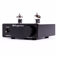 Dilvpoetry TUBE 01 Mini Tube Amplifier Audio Hifi Preamplifier Desktop Buffer Tube Amp 6J1 Tube Preamp