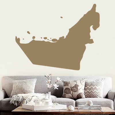 The uae map globe earth country wall vinyl sticker custom made home decoration fashion design in wall stickers from home garden on aliexpress com