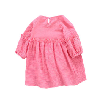 Baby Dresses for Girl Solid Cotton Baby Dress Lantern Sleeve Baby Dresses O-neck Kids Outfits Clothes1st Birthday Party baby dresses for girls baby dot girl party dresses casual knee length short sleeve o neck kids dress summer