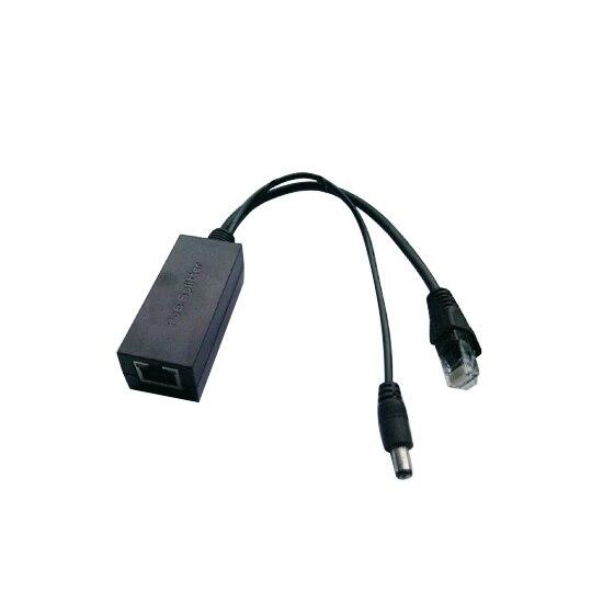 IEEE802.3af Activo 10 RJ45 100/100mbps POE Splitter/Inyector/Conector de Alimentación a través de Ethernet para la Cámara IP VoIP teléfono AP 12 V/1A Salida
