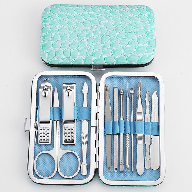 Купить с кэшбэком High-quality steel multi-function 12-piece decoration A tool sharp knife nail clippers hand tool sets