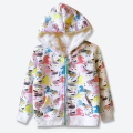 Winter Jackets For Girls,Fall Hooded Coat For Girl,Autumn Zipped Hoodies Printed Cute Horses,kids Sweatshirts Outerwears 2-7 Yrs
