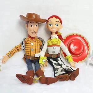 Image 3 - Pixar Original Toy Story 4 Viele Hee Woody Reden/Singen Jessie PVC Action Figure Sammeln Modell Geschenk Elektrische Plüsch spielzeug