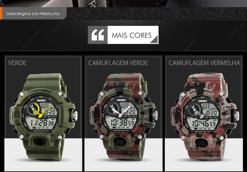 Relógios relógio militar relógio masculino relógio g-shock relógio de pulso relógio casual relógio blindado relógio