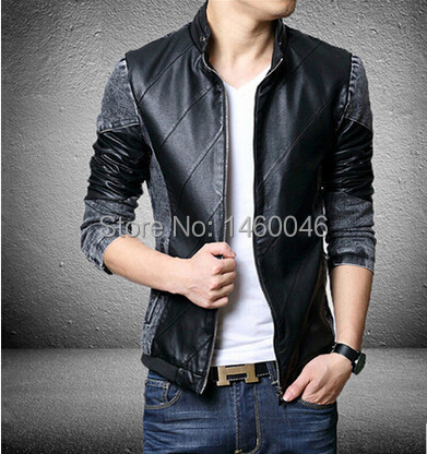 Online Shop Latest big size men's fashion PU leather thin section ...