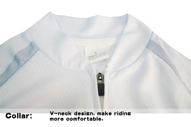 EMONDE Λευκό Κοντό Μανίκι Καλοκαίρι - Ποδηλασία - Φωτογραφία 4