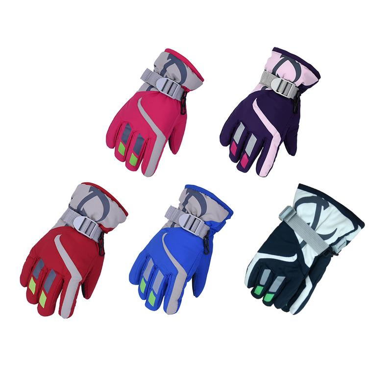 Winter Outdoor Sports Children's Ski Gloves Men And Women Waterproof And Breathable Warm Gloves Accept Wholesale