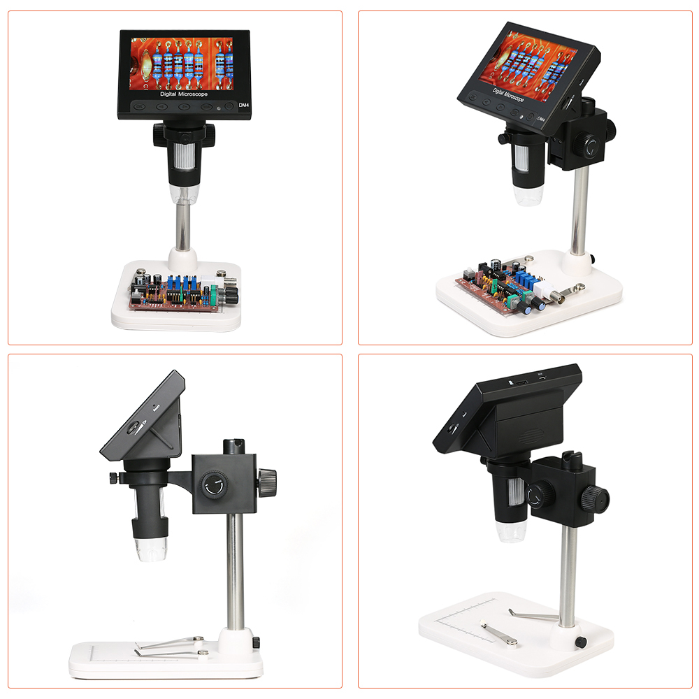 With LED light Magnifier 1000X LCD Display Digital Electronic Microscope with Holder for Circuit Board Repair