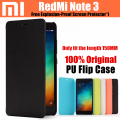 Original xiaomi redmi note 3 pro flip case para redmi note 3 prime telefone inteligente capa de couro ultra fino 150mm