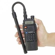 ABBREE AR 148 Gooseneck SMA Feminino 144/430MHz VHF UHF Dual Band Antena Tático Para Baofeng UV 5R UV 82 UV 9R Walkie Talkie