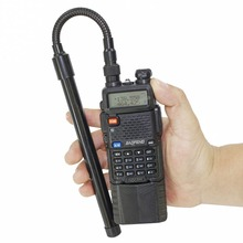 Abjessie AR 148 con cuello de cisne SMA hembra, 144/430MHz, VHF, UHF, banda Dual, antena táctica para Baofeng, UV 5R, UV 82, Walkie Talkie