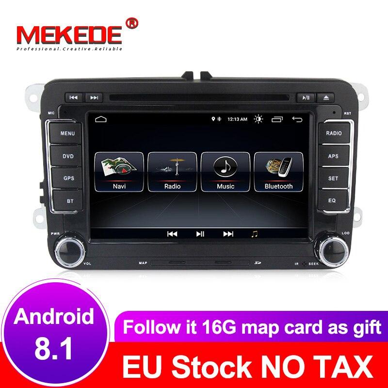 Lecteur radio GPS DVD de voiture Quad core Android 8.1 7