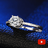 NOT FAKE Round Cut S925 Sterling Silver Ring SONA Diamond solitaire Fine Ring Unique Style Love Wedding Crown Style