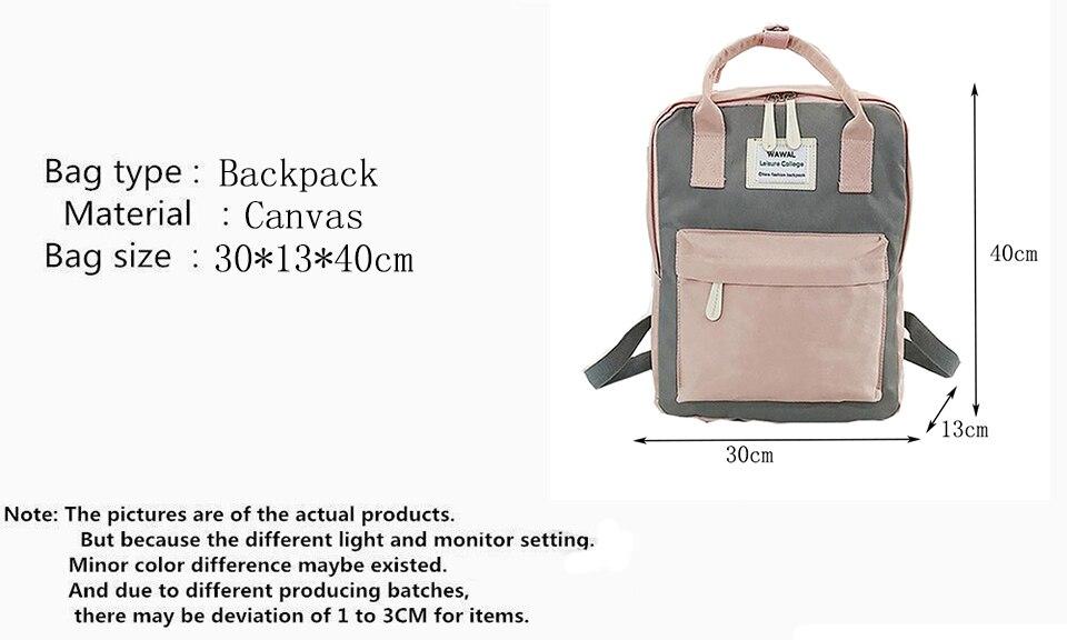 HTB1RPOCdjbguuRkHFrdq6z.LFXaD Yogodlns Campus Women Backpack School Bag for Teenagers College Canvas Female Bagpack 15inch Laptop Back Packs Bolsas Mochila