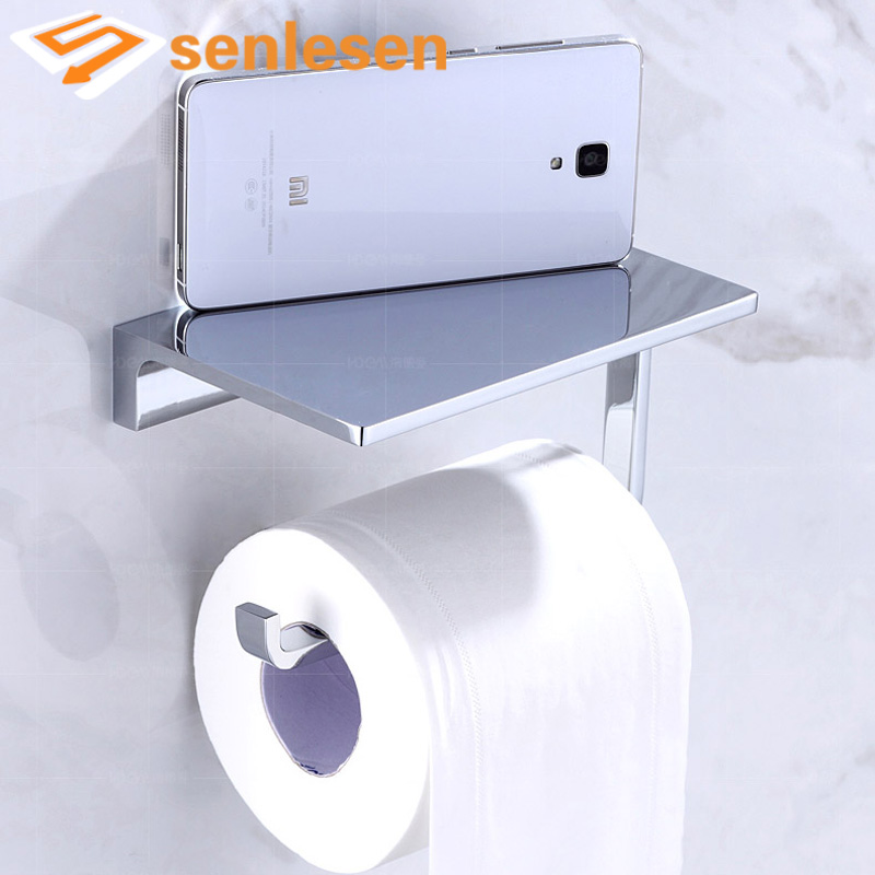 Wholesale and Retail Bathroom Accessories Toilet Paper Holder Wall Mounted Bright Chrome oil rubbed bronze square toilet paper holder wall mounted paper basket holder