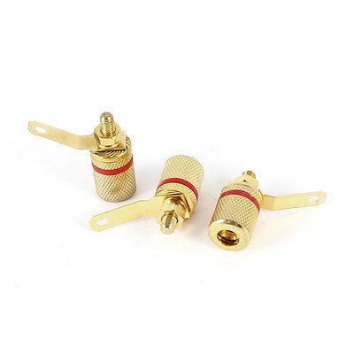 Audio Amplifier Terminal 4mm Banana Plug Jack Binding Post 3.8mm Thread 3 Pieces audio fork banana plug set blue