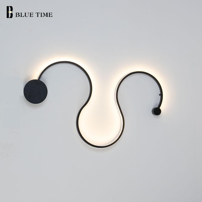 Simple LED Wall Lamp Aluminum Alloy Creative Modern LED Wall Light For Home Foyer Living room Bedroom Coffee room Wandlamp Light