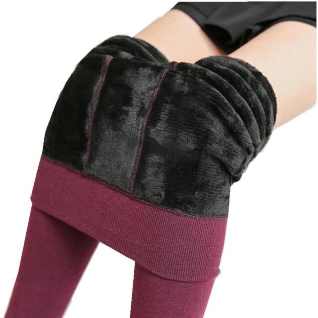 2017 Nuevo Invierno Colorido Leggings Leggins Elegantes Pantalones Elásticos de Alta Para Las Mujeres, Además de Terciopelo Engrosamiento Delgado Leggings 350G H710