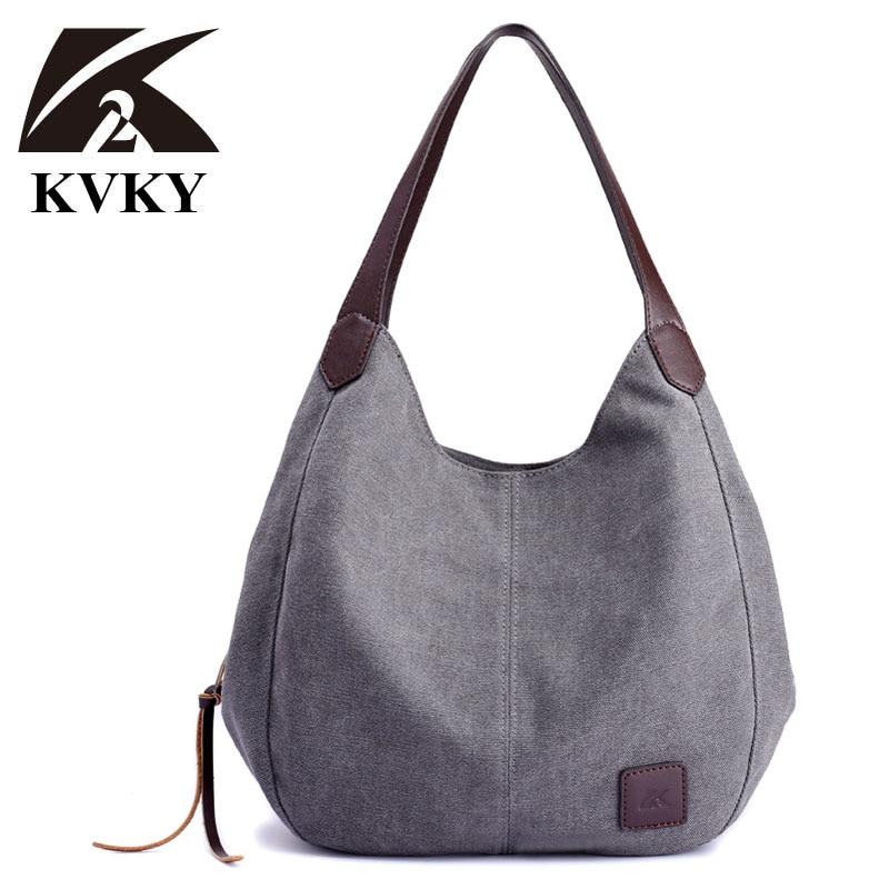 Simple Canvas Bag Vintage Canvas Shoulder Bag Women Handbags Ladies Hand Bag Tote Casual Bolsos Mujer Hobos Bolsas Feminina 2020