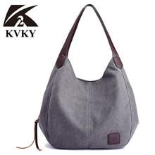Simple Canvas Bag Vintage Canvas Shoulder Bag Women Handbags