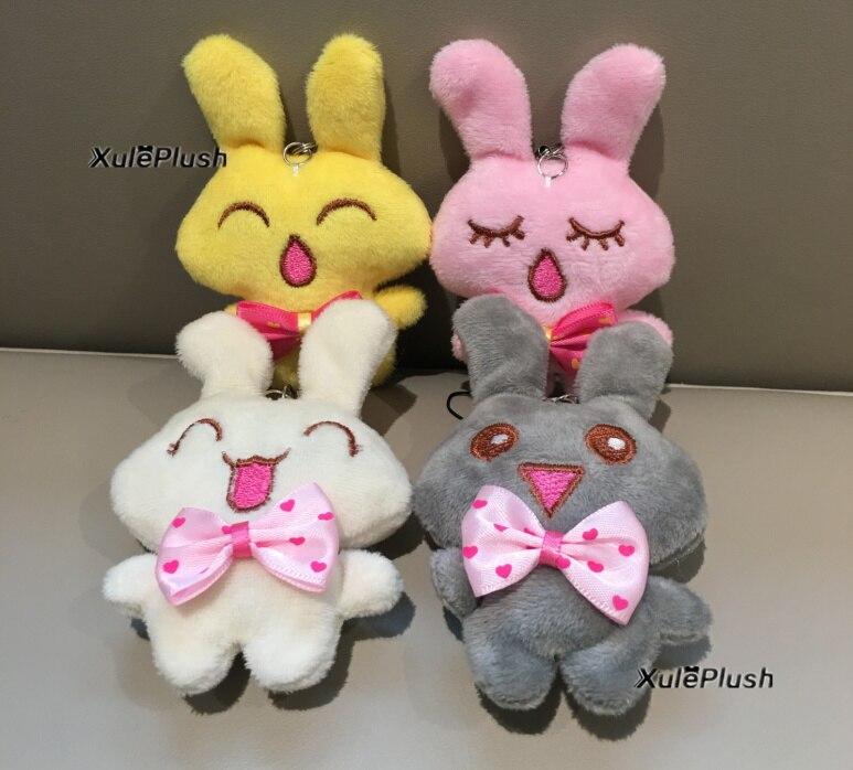 little mini cute mulit-colors rabbit stuffed animal Plush Toy , 5cm plush stuffed animal toy