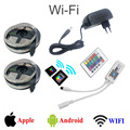 NEW 10M/lot RGB LED Strip Non Waterproof 2835 SMD LED Light DC12V  With 24Key wifi remote controller + 3A Power Supply