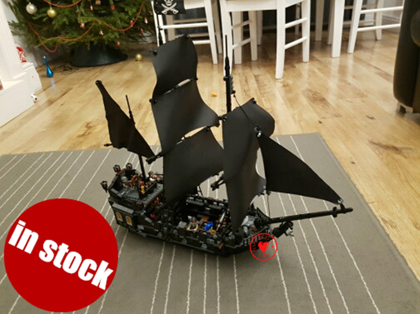 New The Black Pearl Ship fit fit legoings Pirate of the Caribbean figures model building block bricks diy Toy 4184 gift kid boy