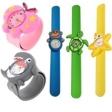 Cute Cartoon Student Wristwatch Animal Quartz Silicone Sports Kids Wrist