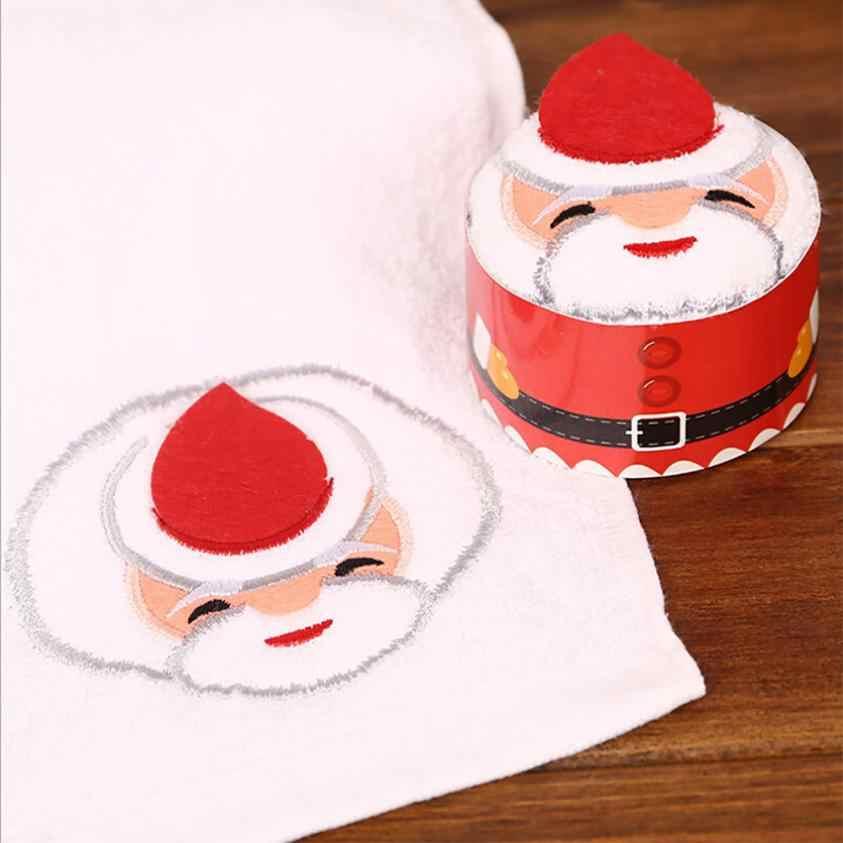 ¡Caliente! Toalla Santa Claus muñeco de nieve árbol de Navidad pastel de modelado Toalla de algodón regalos creativos Dorpshipping may23