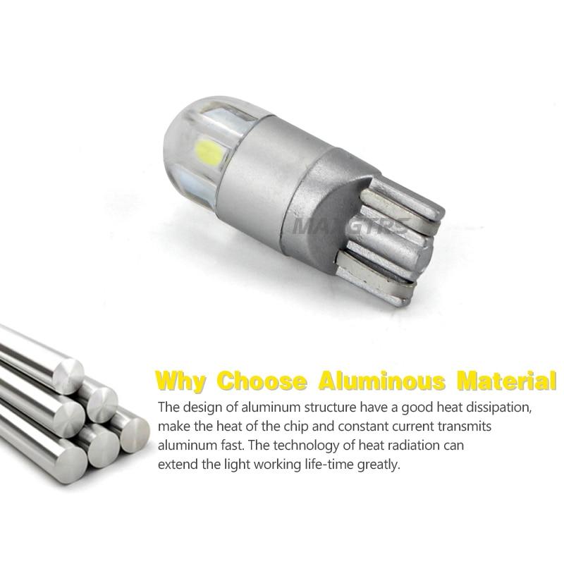 2x T10 168194 W5W LED 3030 Bombillas de repuesto de chips Luces de - Luces del coche - foto 3