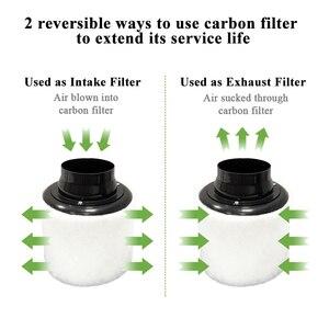 Image 4 - Воздухоочиститель с предварительной фильтром для встроенного вентилятора, гидропоника, зеленый комнатный садовый тент для выращивания, вентиляция 100 мм