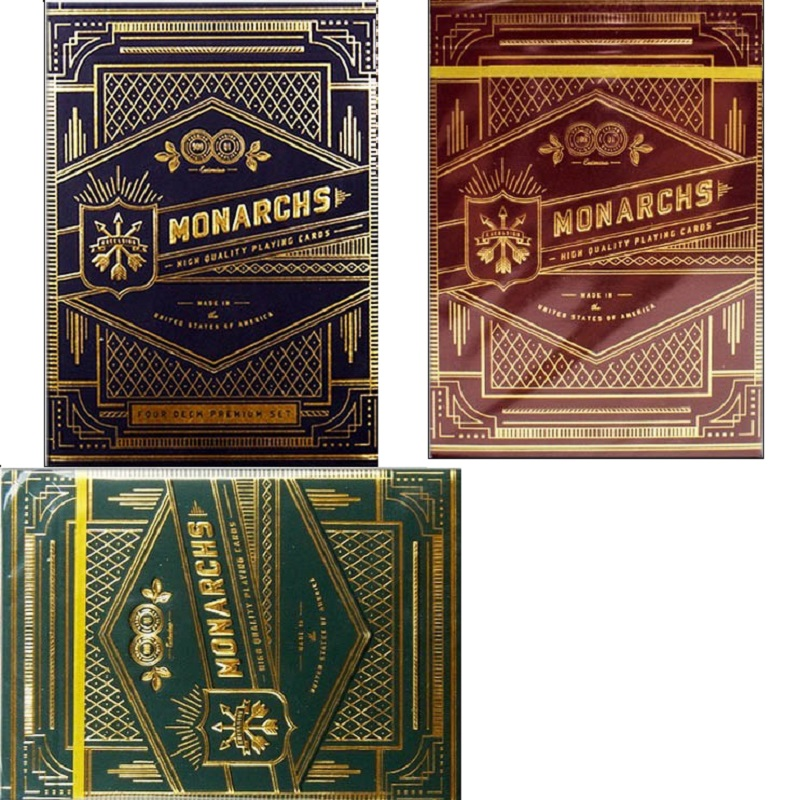 Theory11 Monarch Playing Cards Monarchs Deck Blue/Red/Green T11 Poker Magic Card Close Up Magic Tricks For Professional Magician