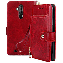 Case For Oukitel C12 Pro Case Luxury Wallet style PU Leather Cover For Oukitel C12 Pro with Stand and Card Holder Flip Cover ethnic style pu and tpu material cover case with stand card holder for nokia lumia n930