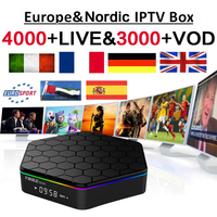 One Year Best French IPTV Box Android TV Box with 4000+ Channels IP TV Europe France Arabic Africa Nordic football Smart Box