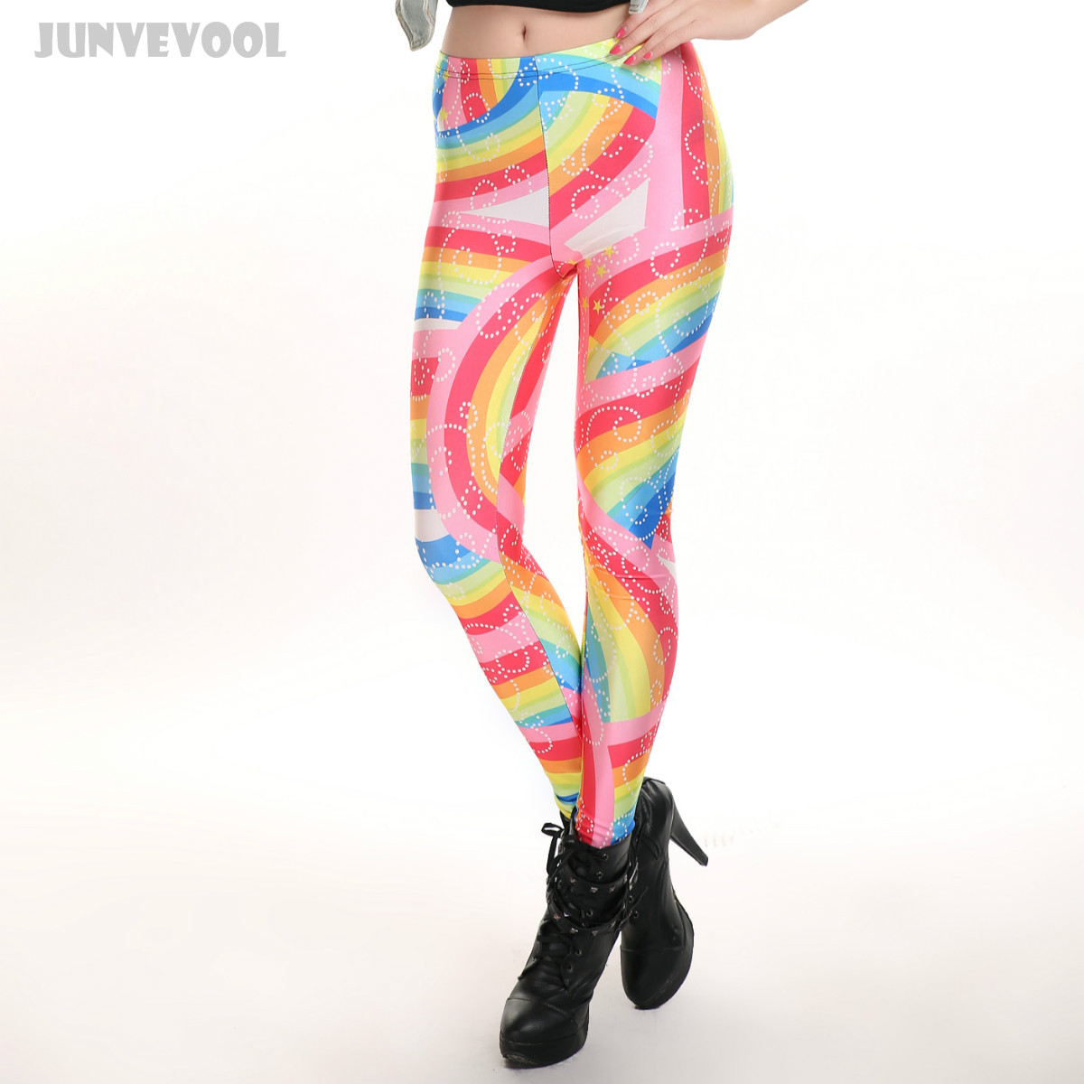 4f53b29d1b80d Skinny Pants Breathable 3D Rainbow Leggings Colorful Mix Color Seamless  Pencil Trousers Sexy Women Skinny Stretchy Slim Slacks-in Leggings from  Women's ...