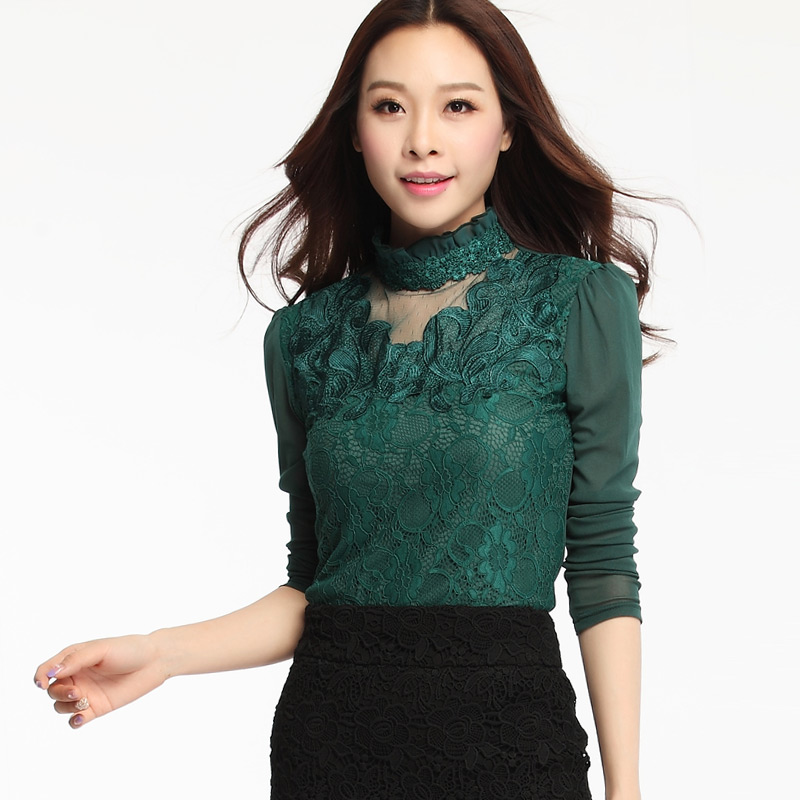 Popular Turtleneck Lace Top-Buy Cheap Turtleneck Lace Top lots ...