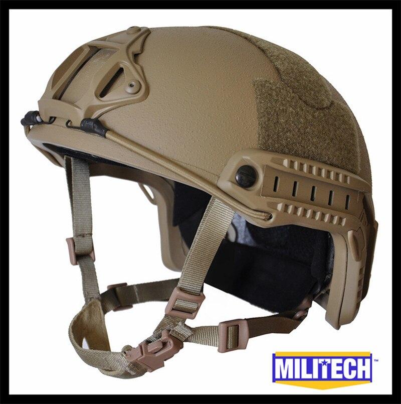 ISO сертифицированный MILITECH CB Deluxe червячный циферблат NIJ уровень IIIA 3A Быстрый высокий разрез баллистический Twaron шлем с 5 лет гарантии DEVGRU