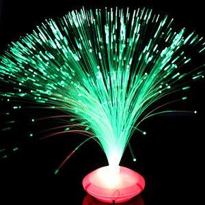 Image 4 - 1 pçs bela cor romântica mudando led de fibra óptica nightlight lâmpada pequena noite luz chrismas festa decoração para casa