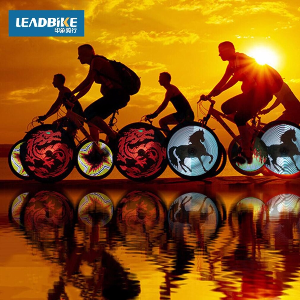 Цена за Leadbike Прохладный DIY Водонепроницаемый ПРИВЕЛО Велосипед Свет Программируемый Ветер Пожарные Двухсторонний Дисплей LED Велосипед Колесо Шина Свет Лампы