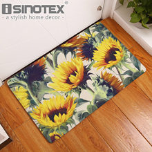 Sunflower Decorative Floor Mat Kitchen Rugs Hallway Home Entrance Door Mats Carpets Anti Slip Fl